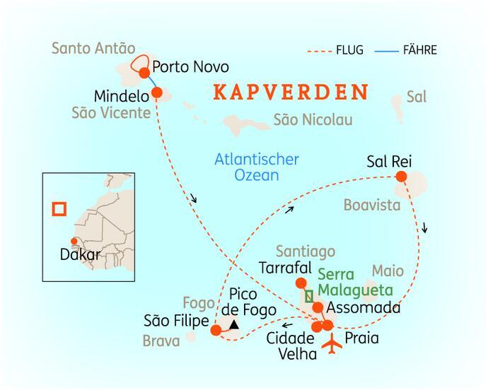 Wo Liegt Kapverden Karte.Kleingruppenreise Kapverdische Inseln 2020 Reisebüro Brück